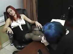 Femdom, Foot Fetish, Lesbian, Stockings