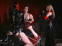 BDSM, Lesbian, Threesome, Blonde, Brunette