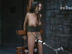 BDSM, Brunette, Orgasm, Tattoo