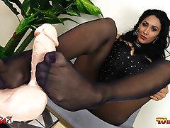 Stockings, Foot Fetish, Dildo, Footjob, High Heels