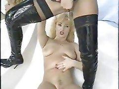 Femdom, Latex, Lesbian, Masturbation
