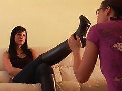 Stockings, Foot Fetish, Lesbian