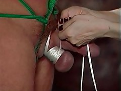 BDSM, Threesome, Brunette, Femdom, Latex